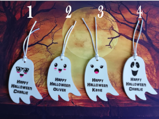 Personalsied Ghost Hanging  Ornament